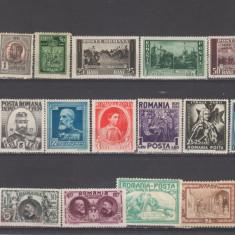 Romania 1900-1950 Lot timbre Nestampilate urme de sarniera (  3 ), Regi, Nestampilat