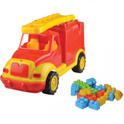 Masina Pompieri 43 Cm Cu 38 Piese Constructie, In Cutie Ucar Toys Uc85 foto
