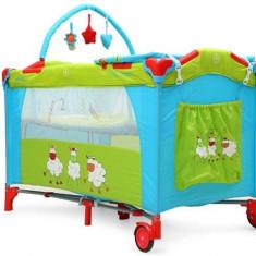 Patut Pliant Bebe Moni Happy Baby Triple Chicks - Patut pliant bebelusi