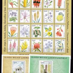 Uganda 1991 flori gradini botanice MI 966-1007 2klb.+2 bl. MNH w46 - Timbre straine, Nestampilat