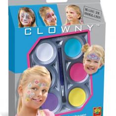 Ses Clowny - Set Pictura Pe Fata Pentru Fete (6 Vopsele) - Jocuri arta si creatie