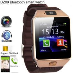 Ceas SmartWatch,Telefon SIM GSM HeartBeeps DZ09, Android,!FULL Gold(Edition),Nou, Otel inoxidabil, Auriu, Android Wear