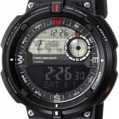 Casio SGW-600H-1BCF Twin Sensor ceas barbati nou 100% original. Livrare rapida. - Ceas barbatesc Casio, Sport, Quartz, Inox, Cauciuc, Cronograf