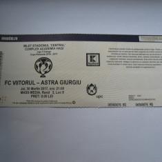 Bilet de meci FC Viitorul - Astra Giurgiu (30 martie 2017) - Bilet meci