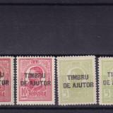 ROMANIA 1915, LOT CAROL I SUPRATIPAR TIMBRU DE AJUTOR MNH - Timbre Romania, Nestampilat