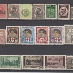 Romania 1900-1950 Lot timbre Nestampilate urme de sarniera (  5 ), Regi, Nestampilat