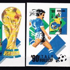Sierra Leone 1989 fotbal MI bl.94, 95 MNH w46 - Timbre straine, Nestampilat