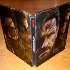 Steelbook Metal Gear Solid V The Phantom Pain + disc bonus + harta , de colectie