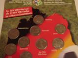 Colectie 14 monede Campionatul Mondial de Fotbal din Germania 2006