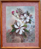 Magnolii - semnat  Schollaert, Flori, Pastel, Altul