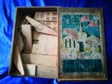 Joc rusesc de construit, din lemn. Joc vechi, casa pentru copii
