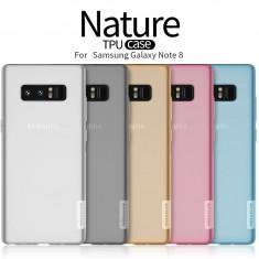 Husa Samsung Galaxy Note 8 Nature TPU Transparenta by Nillkin - Husa Telefon Samsung, Gel TPU, Fara snur, Carcasa