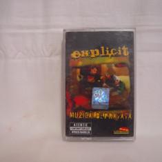 Vand caseta audio Explicit-Muzica Depravata, originala, raritate - Muzica Hip Hop roton, Casete audio