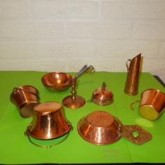 LOT format din 8 mici OBIECTE DECORATIVE lucrate din CUPRU (6) - Metal/Fonta, Ornamentale