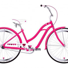 Bicicleta roz Cruiser Felt, de dama - Bicicleta Dama Felt, 26 inch, Numar viteze: 3