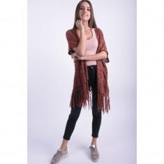 Cardigan Lung Vero Moda Lorelai Visiniu - Pulover dama Vero Moda, Marime: XS, S, M, L, Acril