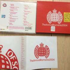 ‎Ministry Of Sound The Annual Romania compilatie 2004 cd disc Muzica Pop roton house