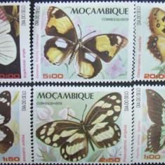 MOZAMBIQUE - FLUTURI, 1979, 6 V, NEOBLIT.  - MZ 22, Fauna