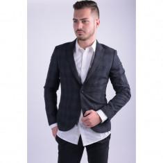 Sacou Barbati Selected Shdoneisac Blazer Navy/grey Check, Marime: 48, Culoare: Bleumarin