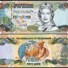 Bahamas 2001 - 50 cents UNC - bancnota europa