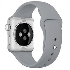 Curea pentru Apple Watch 42 mm Silicon iUni Gray - Curea ceas cauciuc