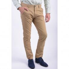 Pantaloni Bumbac Selected Three Paris Chino Antique Bronze - Pantaloni barbati, Marime: 30, 33, 36, Culoare: Maro