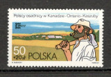 Polonia.1987 Emigrarea polonezilor in Canada  KP.189, Nestampilat