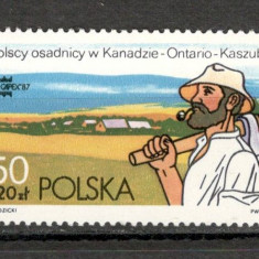 Polonia.1987 Emigrarea polonezilor in Canada KP.189 - Timbre straine, Nestampilat
