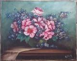 Bol cu flori - semnat  R.Mury