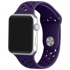 Curea pentru Apple Watch 42 mm Silicon Sport iUni Purple - Curea ceas cauciuc