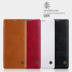 Husa Samsung Galaxy Note 8 Qin Leather Red by Nillkin