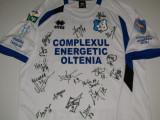 Tricou fotbal - PANDURII TARGU-JIU cu autografe originale jucatori(2014-2015), XL, De club
