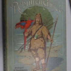ROBINSON CRUSOE - J.H.CAMPES  - 1910 VOL 3 - CARTE IN LIMBA GERMANA