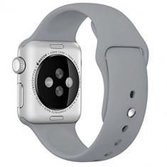 Curea pentru Apple Watch 38 mm Silicon iUni Gray - Curea ceas cauciuc