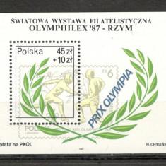 Polonia.1987 Expozitia filatelica OLYMPHILEX-Bl. KP.191 - Timbre straine, Nestampilat