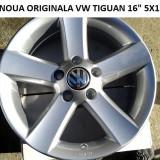 1BUC JANTA ORIGINALA VW 16 5X112 TIGUAN - Janta aliaj Volkswagen, Numar prezoane: 5