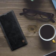 Husa Samsung Galaxy Note 8 Qin Leather Black by Nillkin - Husa Telefon Samsung, Negru, Piele Ecologica, Cu clapeta, Toc