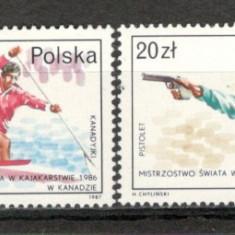 Polonia.1987 Sportivi medaliati la mondiale KP.193 - Timbre straine, Nestampilat