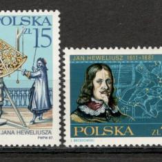 Polonia.1987 300 ani moarte J.Hevellinus-astronom KP.192 - Timbre straine, Nestampilat