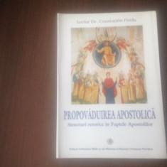 PR CONSTANTIN PREDA, PROPOVADUIREA APOSTOLICA. STRUCTURI RETORICE IN FAPTELE AP.