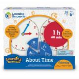 Invatam Totul Despre Timp - Fractii - Jocuri Logica si inteligenta Learning Resources