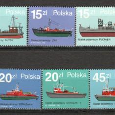 Polonia.1988 Vapoare de pompieri KP.206 - Timbre straine, Nestampilat