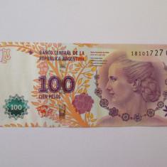 Argentina 100 Pesos 2016 aUNC comemorativi Maria Eva Duarte De Peron - bancnota america