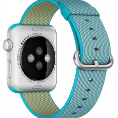 Curea pentru Apple Watch 42 mm iUni Woven Strap, Nylon, Electric Blue