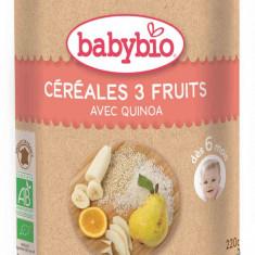 Cereale Babybio orez quinoa cu 3 fructe bebelusi 6 luni - Cereale copii