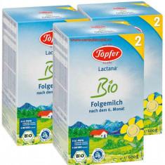 Lapte praf Topfer Bio Lactana 2, PACHET ECONOM 3x600g - Lapte praf bebelusi