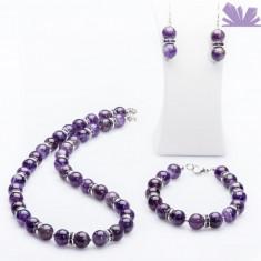 Set Ines Ametist - Colier perle