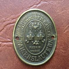Sigla / insigna / emblema veche masina de cusut Gebruder Kayser / Kaiserslautern