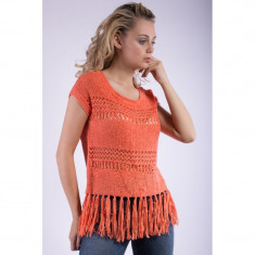 Bluza Only Onlkarie Sl Short Top Coral - Tricou dama Only, Marime: S, Culoare: Roz