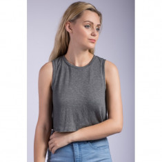 Maieu Only Onldream Sl Cropped Top Gunmetal - Tricou dama Only, Marime: S, Culoare: Gri